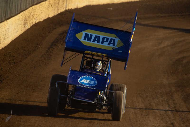 Brad Sweet Kokomo Speedway 2020 NAPA AUTO PARTS 49