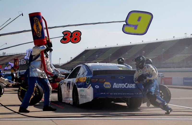 Chase Elliott fuel stop