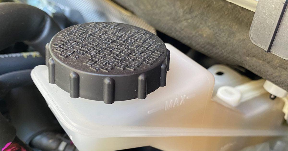 Brake fluid port