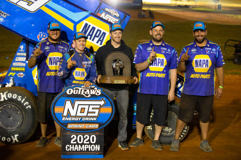 Brad Sweet 2020 World of Outlaws champion NAPA AUTO PARTS 49