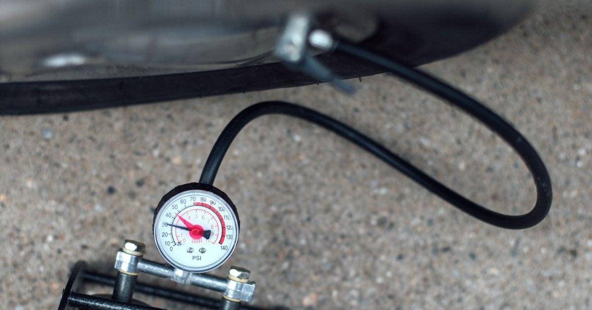 A tire pressure gauge.