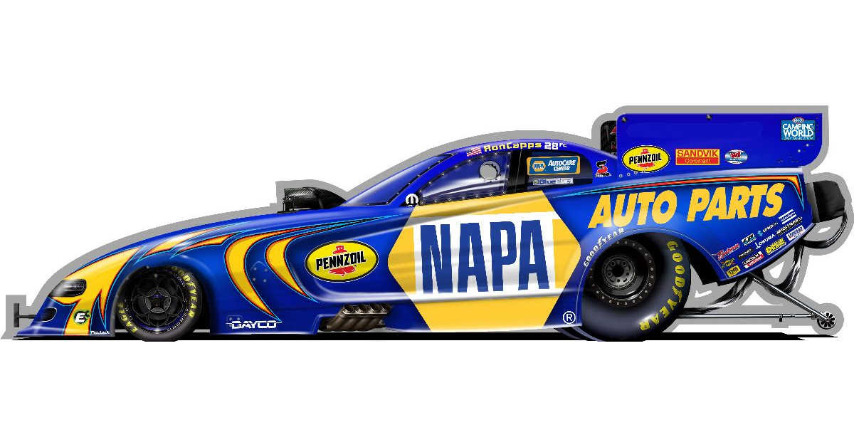 Ron Capps NAPA AUTO PARTS 2021 Funny Car render