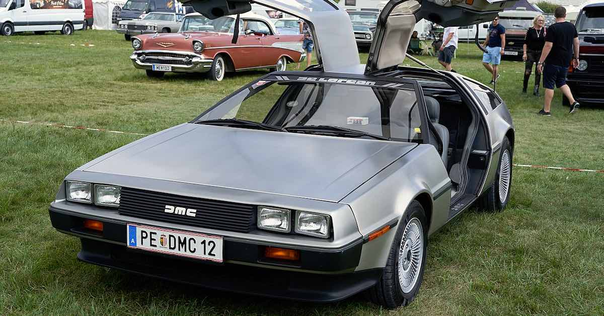 A DeLorean DMC-12.