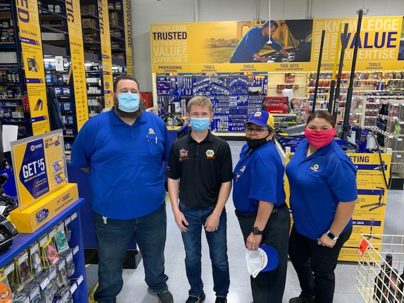 Derek Kraus NAPA AUTO PARTS Phoenix store visit