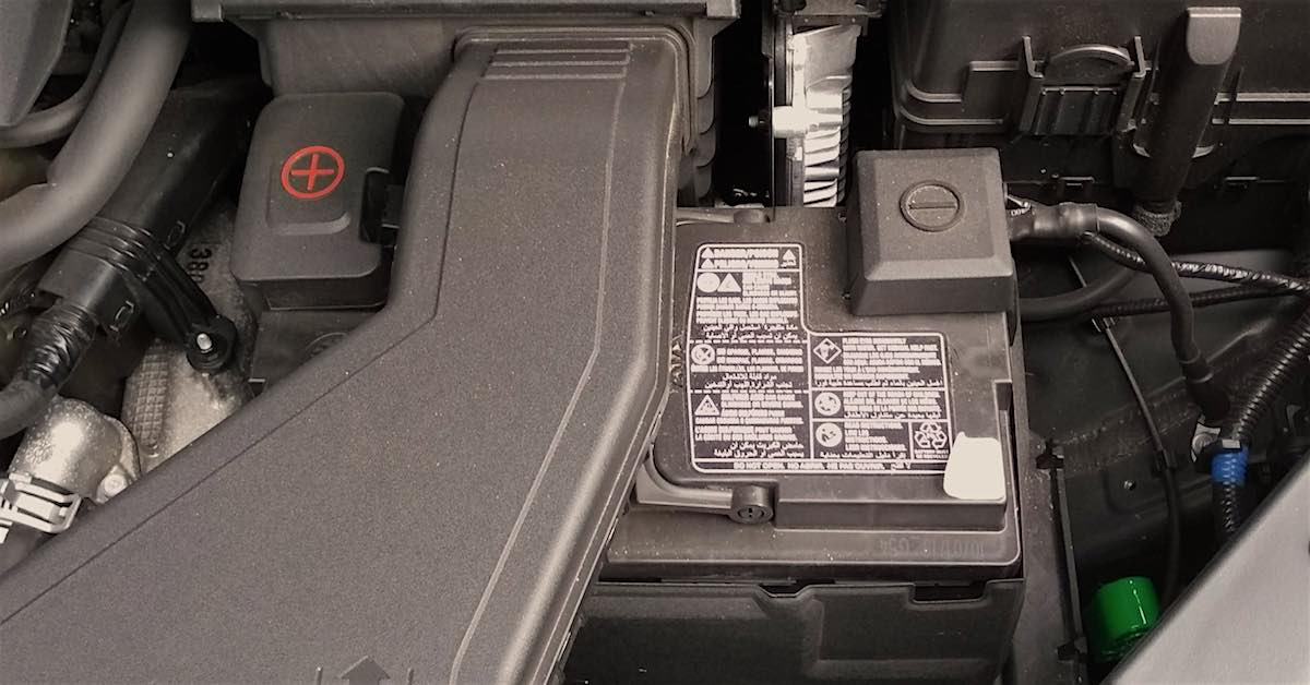 A Kia Telluride factory AGM battery.