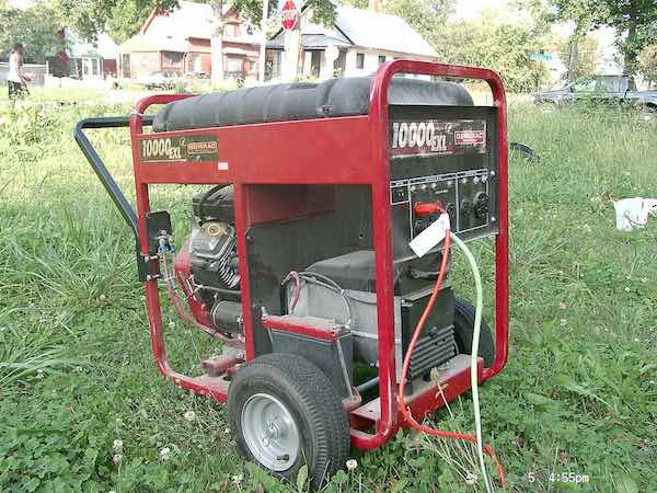 Portable electrical generator angle