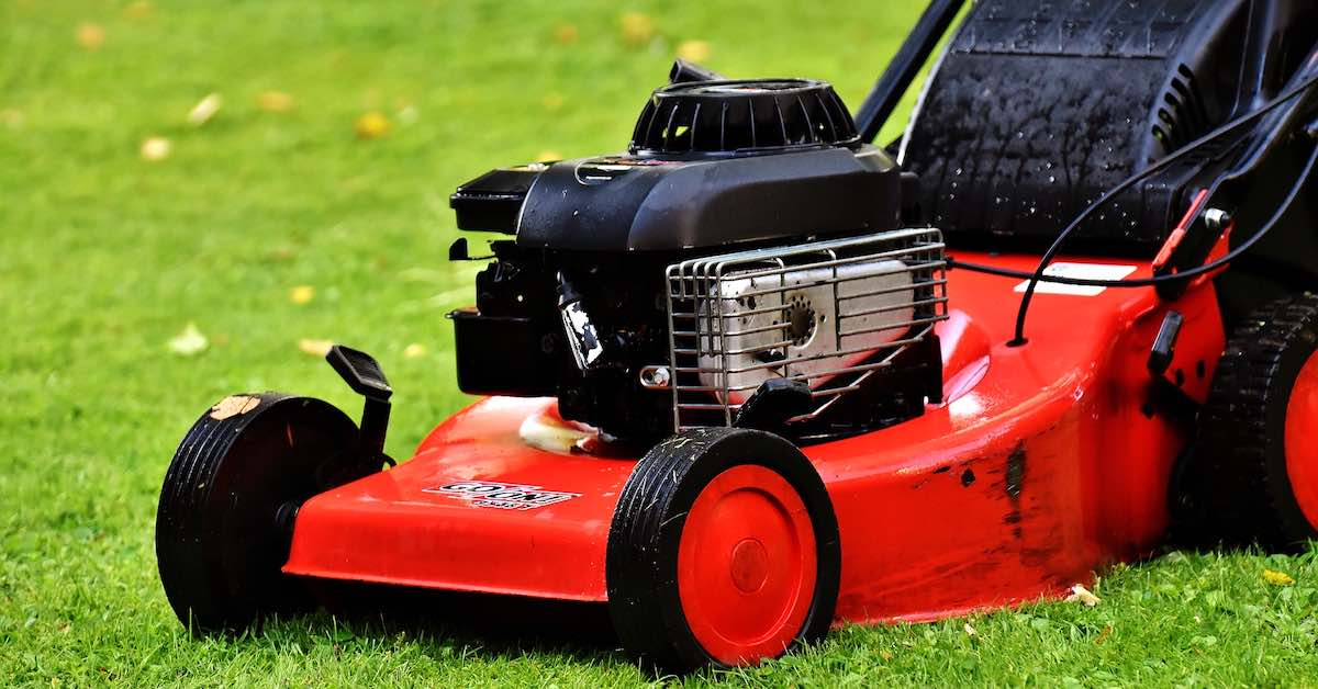A fully functional used lawn mower.