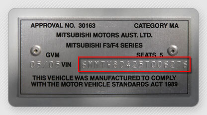 Your VIN number serves as basic identification for your car.