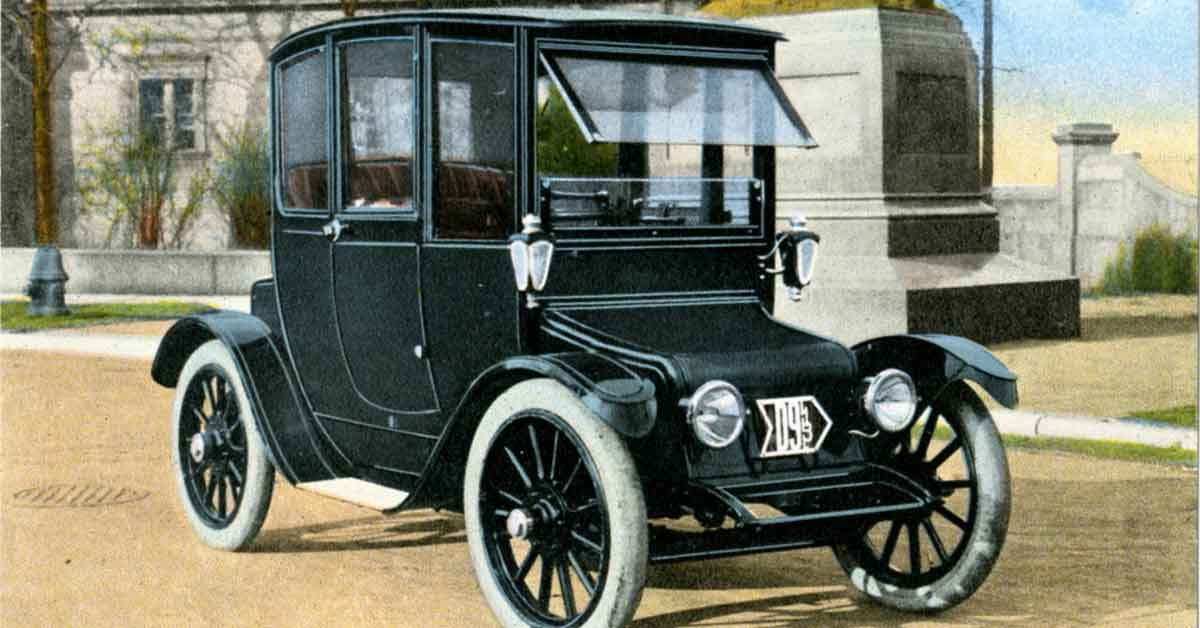 A Borland Electric Model 50 on a promotional postcard.