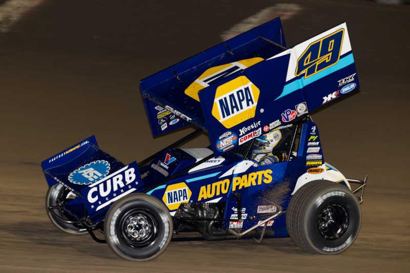 Brad Sweet Eldora 2021 NAPA AUTO PARTS 49 Outlaws sprint car