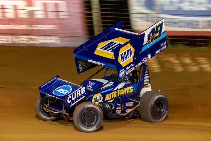 Brad Sweet NAPA AUTO PARTS 49 Lincoln Speedway win 2021