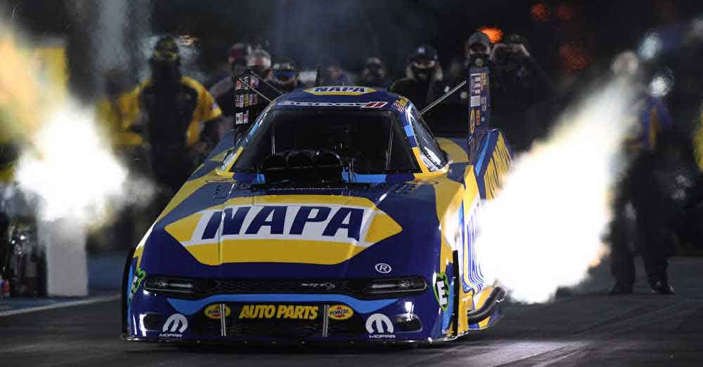 Ron Capps funny car launch