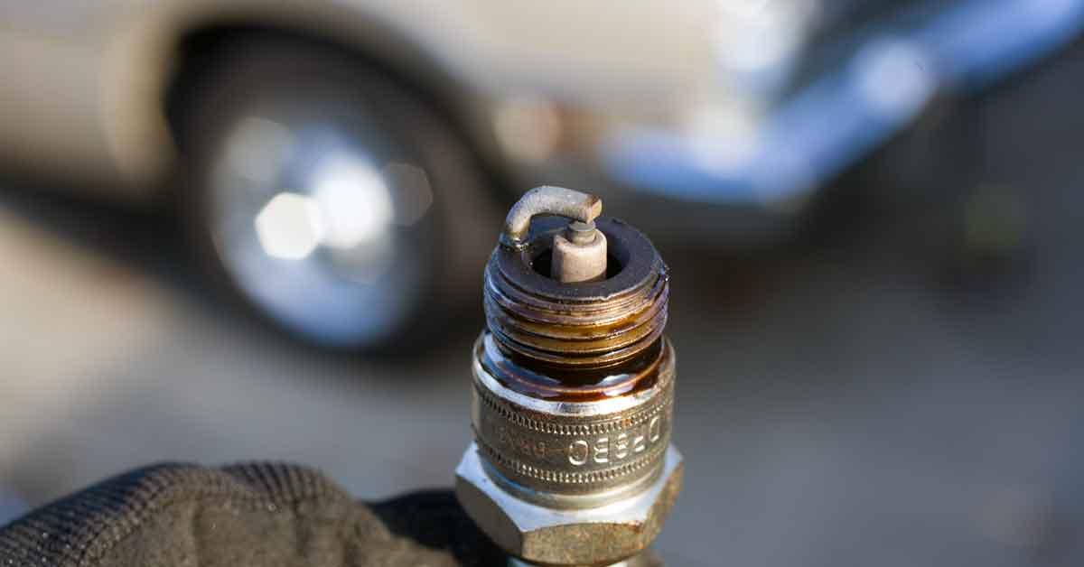 An oily spark plug.