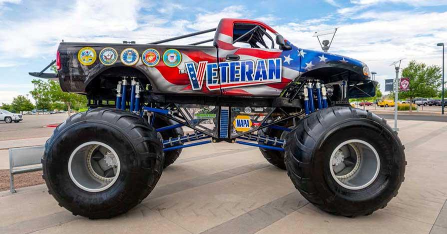 NAPA Sponsored Veteran Monster Truck Honors Military Veterans