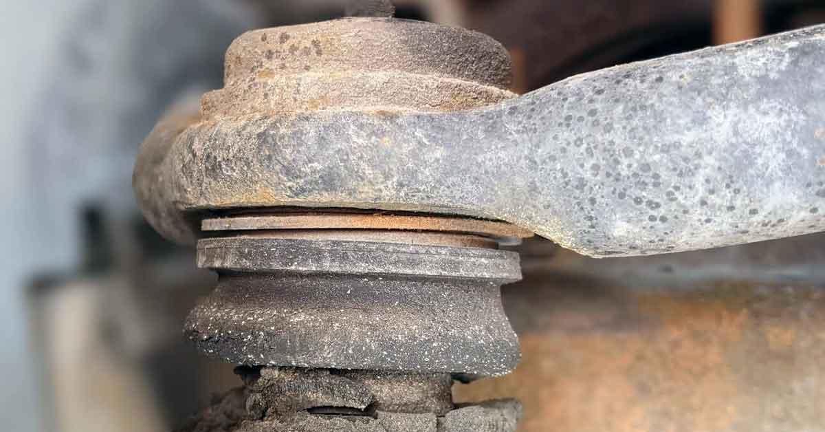An old ball joint under a car