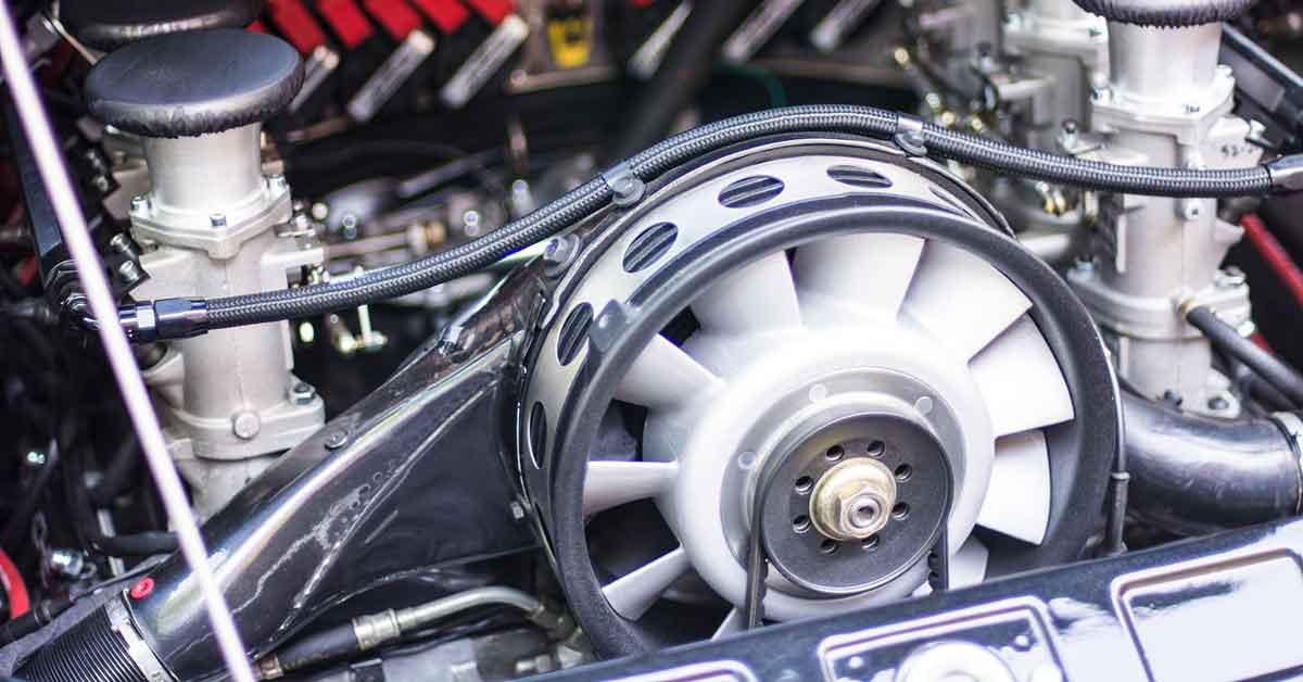 An air cooled engine.