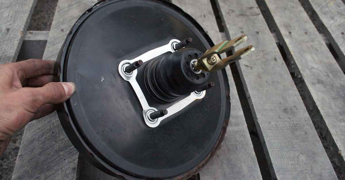 Brake booster from a 1990 Geo Storm GSi.