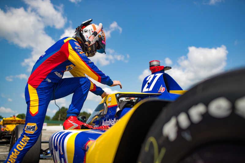 Alexander Rossi 27 NAPA AUTO PARTS Mid-Ohio 2021 top-five