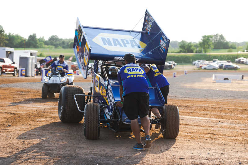 Brad Sweet Cedar Lake sweep 2021 NAPA AUTO PARTS 49
