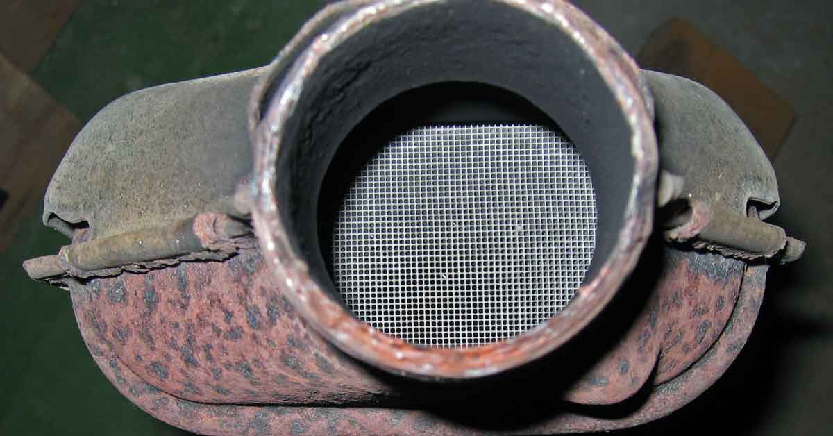 Catalytic converter up close