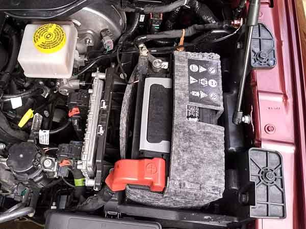 Battery in a RAM truck