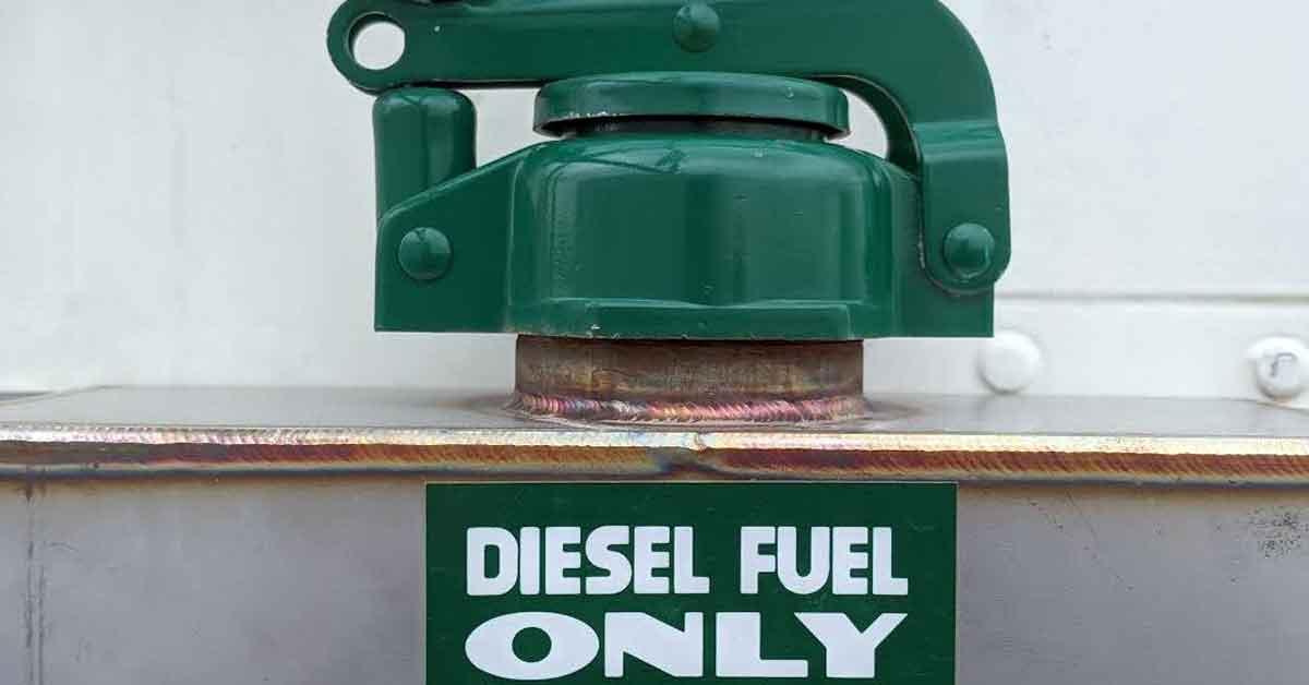 A diesel gas cap.