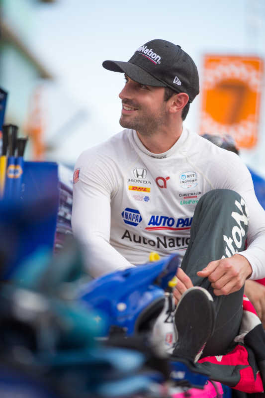 Alexander Rossi season-best top-five IMS road course 2021 suiting up