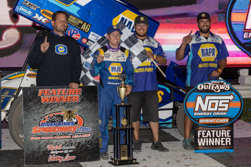 Brad Sweet NAPA AUTO PARTS 49 River Cities Outlaws winner