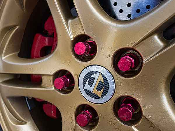 Lug nuts come in different shapes, colors and sizes.