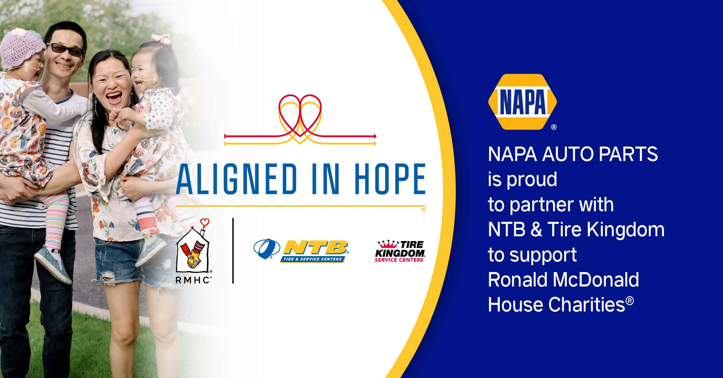NAPA AUTO PARTS Is Aligned in Hope to Support Ronald McDonald House Charities