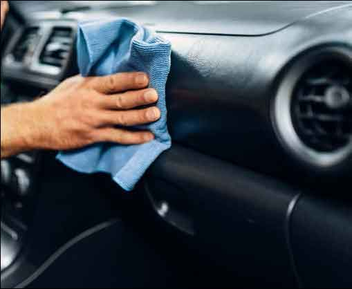 Wiping a dash with 303 Protectant