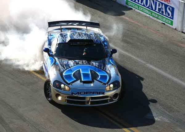 Formula D race car drifting