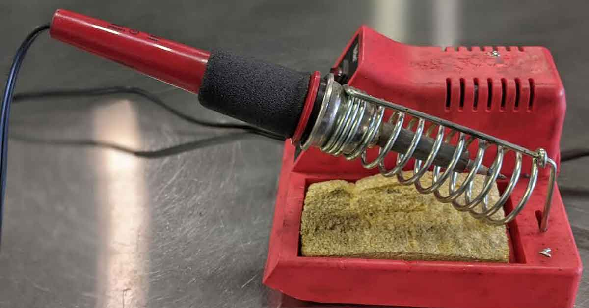 A soldering iron.